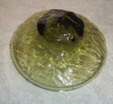 "Green Glass Lid 4 1/2"" Wide # 36"