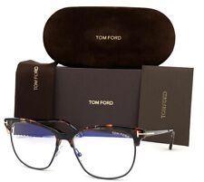 Tom Ford FT5546-B 055 Dark Havana / Blue Block 54mm Eyeglasses TF5546-B