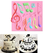 Music Notes Silicone Fondant Mold Cake Decorating Cupcake Sugarcraft Mould Tools