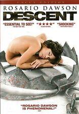 Descent , 100% uncut edition , dvd region2 , new & sealed , Rosario Dawson