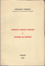 DIRITTO TORRENT ARMANDO DERECHO PUBLICO ROMANO Y SISTEMA DE FUENTES 1979