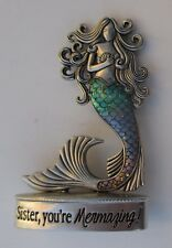 L Sister you're MERMAZING amazing MERMAID FIGURINE miniature Ganz