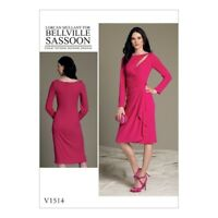 Vogue Designerschnitt V1514, BELLVILLE SASSOON, Kleid, sizes 14-22 (Gr. 40 - 48)