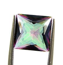 3.85 Ct Natural Rainbow Mystic Topaz 10 mm Princess Cut Loose Gemstone - 24965