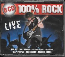 6 CD DEEP PURPLE, Kansas, Golden Earring, Jethro Tull' 100% Rock Live 'NUOVO/NEW/OVP
