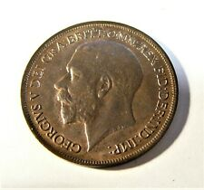 1917 Great Britain UNC One Penny King George V SB1