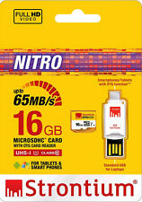 Strontium 16GB Nitro 433X UHS-1 Micro Sd Card (Class10) With OTG Card Reader