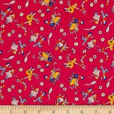 Toy Box miniature Kite Flying rosse in tessuto P&B Textiles FQ + più 100% COTONE
