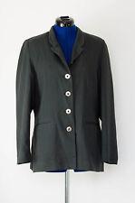 Damen Blazer / Jacket grau Bamboo Gr. 38 schöne Metallknöpfe Business