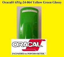 "12"" x 10 FT Roll Yellow Green Glossy  Oracal 651  Vinyl  Cutter Plotter Sign 064"