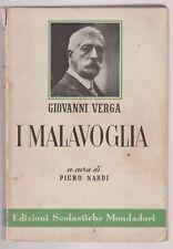 Giovanni Verga  I Malavoglia  a cura di Piero Nardi  Mondadori 1958 6496