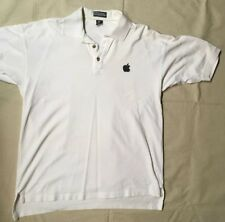 Vintage Apple Logo / Think Different Short Sleeve White Polo Shirt Size-XL