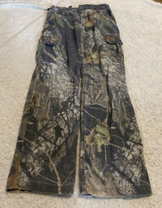 BOYS MOSSY OAK Mountain Country CAMO Cargo Hunting PANTS Size Large