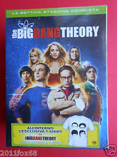 box set 3 dvd+ t-shirt serie tv the big bang theory season 7 settima stagione tv