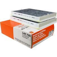 Original MAHLE / KNECHT Innenraumfilter Innenraumluft Pollenfilter LAK 73/S