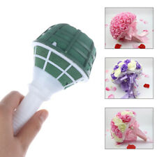 1pc DIY Wedding Bridal Rose Floral Bouquet Handle Flower Holder Decorat-JTPTHVBJ