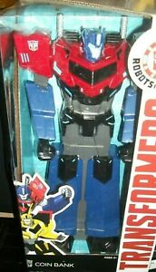 """New OPTIMUS PRIME Transformers Robots in Disguise 15"""" Bank"""
