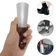 Small Stainless Steel Shoe Horn With PU Leather Strap Boots Shoes Portable H