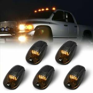 5x Smoked Lens Rooftop Cab Running Light LED 3000K for Dodge RAM 1500 2500 3500