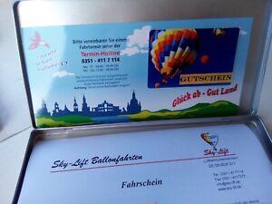 Ballonfahrt für eine Person, Gutschein ist 2 Jahre gültig, Wert etwa 200 EUR