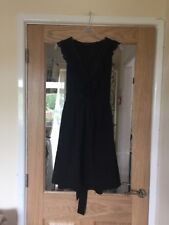 Miss Selfridge Size 10 Black Frilly Dress