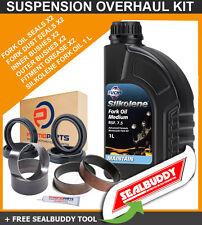 Horquilla Suspensión Kit Sellos arbustos Aceite sealbuddy Honda Crf450 X 05-14