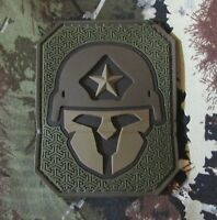 MODERN SPARTAN PVC FOREST TACTICAL US ARMY MORALE PATCH W VELCRO® BRAND FASTENER