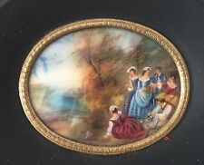 Miniature Peinture Style Empire Napoléon III Ancien French Painting