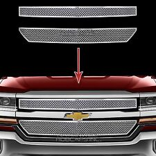 2016-2018 Chevy Silverado 1500 CHROME Grille Overlay Front Grill Covers Inserts