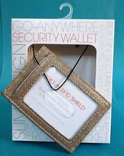 Women's GO ANYWHERE SECURITY WALLET RFID Shield Card Case ID Front Pocket New