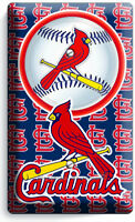 ST LOUIS CARDINALS BASEBALL TEAM LOGO LIGHT SWITCH OUTLET COVER WALL PLATE DECOR