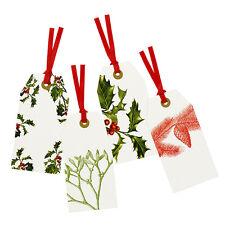 8 Stile Vintage Natale Botanico EXTRA LARGE regalo speciale-ETICHETTE TAG bagagli