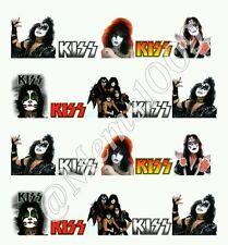 Kiss Rock Band  nail art water decals Kiss Nail art Kiss Nail Decals