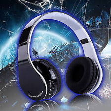Foldable Wireless Bluetooth Gaming Headphone Headset W/ Microphone for Sony Ps4
