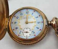 ANTIQUE VICTORIAN AMERICAN WALTHAM POCKET WATCH W/ RF SIMMONS & CO WATCH CHAIN