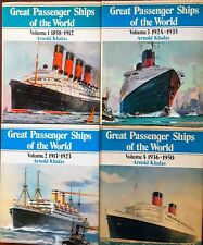 """GREAT PASSENGER LINERS OF THE WORLD"" Volumes 1-5; 1858-1976 Kludas - HC/DJs/VGC"