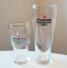 Heineken Pair - 16Oz Beer Glass and 10 Oz Beer Glass - Excellent Condition!