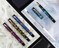 Moonman M600S Acrylic Resin Fountain Pen, F/M/Bent Nib Fashion Writing Gift Pen