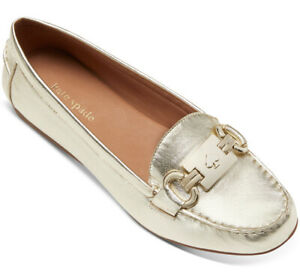Kate Spade New York Carson Moccasins in Pale Gold.