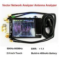 """NanoVNA 50KHz-900MHz MF VHF HF Vector Network Antenna 2.8"""" LCD Analyzer + Battey"""