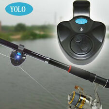 YOLO Electronic LED Fish Bite Alarm Bell Finder Sound Alert Clip On Fishing Rod