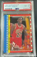 1987 Fleer Michael jordan sticker PSA 8 Hot!! basketball
