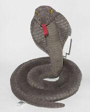Neuware Schlange Cobra Brillenschlange dunkelgrau ca. 36cm hoch