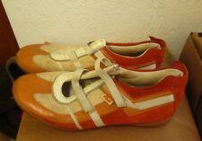 PONY Panache leather Tennis Shoes vtg beat-up orange 1980s size 9.5 track field