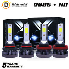 9005 H11 High + Low Beam Combo 52000LM LED Headlight Bulb Kit 6000K Super White
