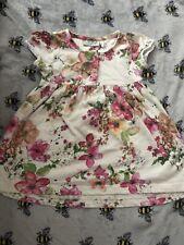 D Next 9-12 Months Baby Girl Dress Flowers 100% Cotton