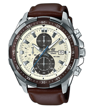 EFR-539L-7BV CASIO EDIFICE  Chronograph Ion Plated Bezel Brown Leather Band 100m