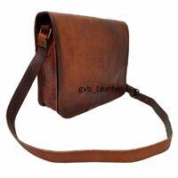 Men's Vintage Leather Messenger Business Multi Uses Laptop Briefcase Satchel Bag