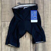 Vintage 80s NOS New REED STREET Adult Mens MEDIUM Padded Bike Shorts USA