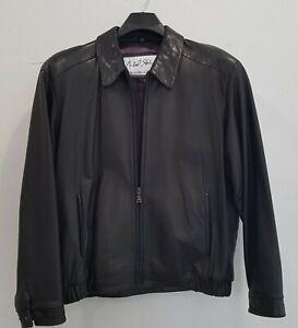 Genuine Michael Hoban - Men's North Beach Leather Jacket -  Size L, Black